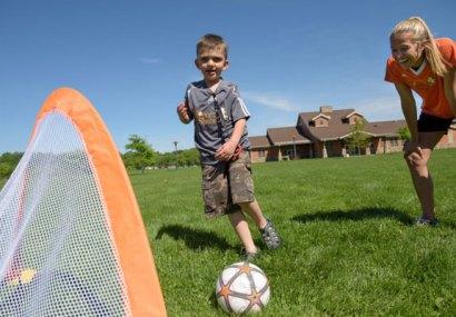 Vista quad becomes soccer field for program trials